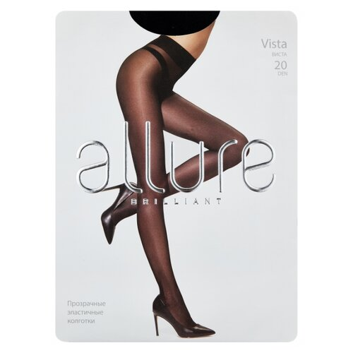 Колготки ALLURE Brilliant Vista, 20 den, размер 3, nero (черный)