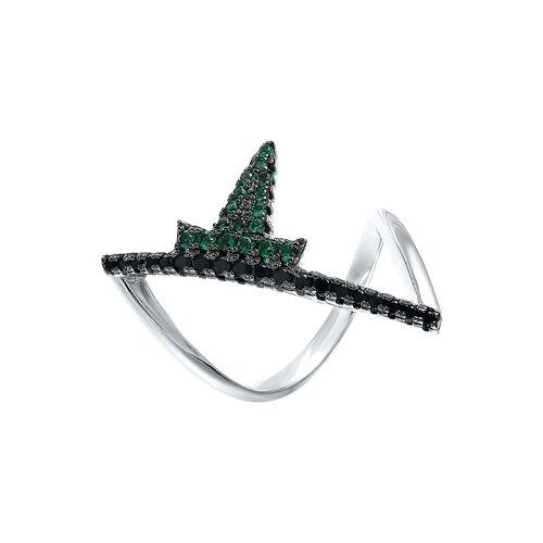 JV Кольцо с фианитами из серебра R27000-W3-KO-001-WG, размер 17 jv кольцо с фианитами из серебра r27103 w3 ko 001 wg размер 16 5
