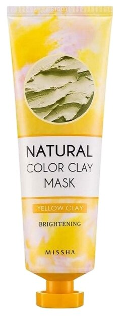 Missha Natural Color Clay Mask Осветляющая глиняная маска Yellow Clay Brightening