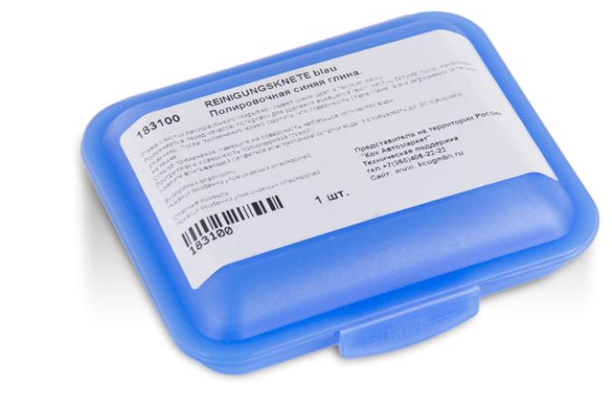 Неабразивная глина Koch Chemie полировочная синяя Reinigungsknete blau, 0.1 кг