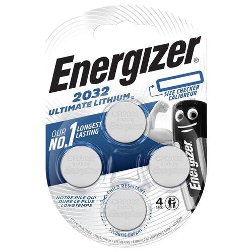 Батарейка Energizer Ultimate Lithium CR2032, 4 шт. батарейка energizer ultimate lithium cr2016 2 шт