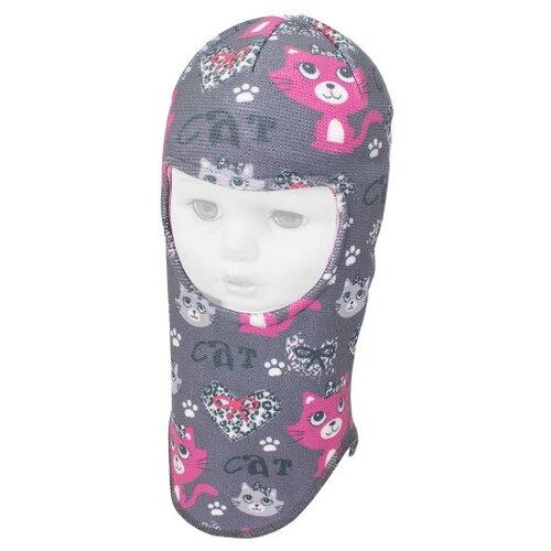 Купить Шапка-шлем Prikinder размер 46-48, серый, Головные уборы