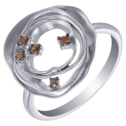 цена на JV Кольцо с 5 бриллиантами из белого золота AAS-3788R-KO-DO-WG, размер 17