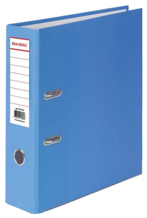 BRAUBERG Папка-регистратор А4 с покрытием из ПВХ и уголком, 80 мм