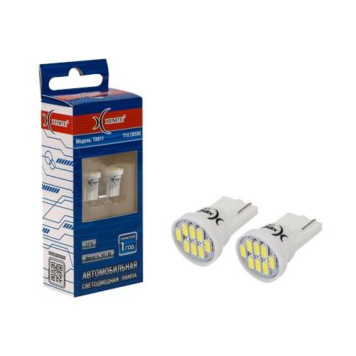Лампа автомобильная светодиодная Xenite T0811 W5W 0.8W 2 шт.