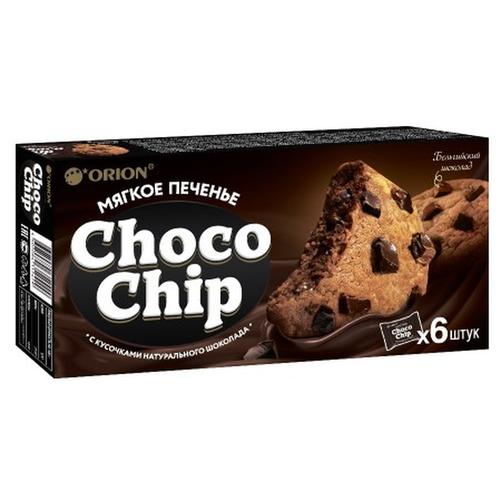 Фото - Печенье Orion Choco Chip с кусочками темного шоколада, 120 г печенье choco boy грибочки 45 г