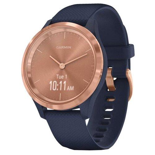 Умные часы Garmin Vivomove 3S, темно-синий/розовое золото умные часы garmin vivomove luxe с кожаным ремешком черный золотистый