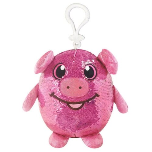 Купить Мягкая игрушка Beverly Hills Teddy Bear Шиммиз Свинка в пайетках с карабином 9 см, Beverly Hills Teddy Bear Company, Мягкие игрушки
