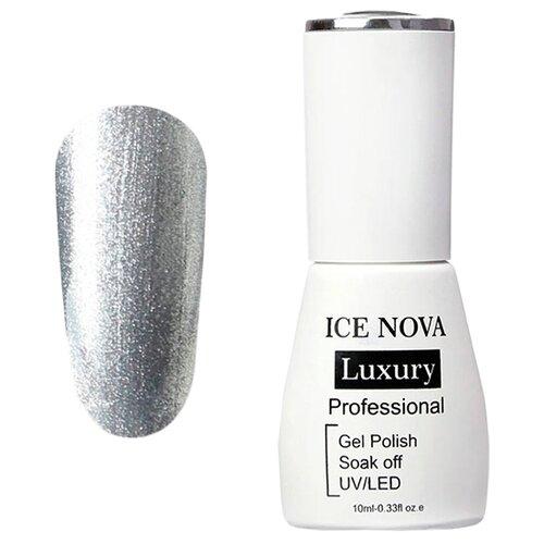 Купить Гель-лак для ногтей ICE NOVA Luxury Professional, 10 мл, 120 silver glitte