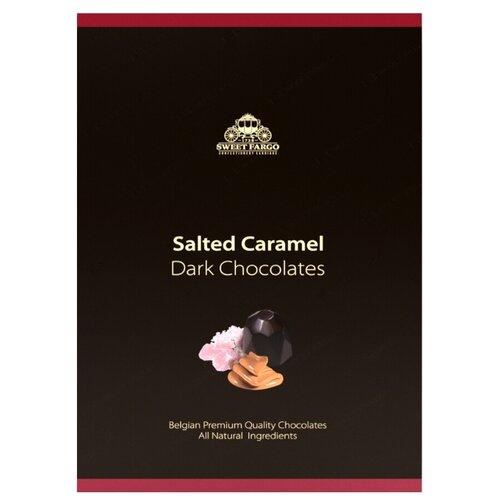 Набор конфет Sweet Fargo Розовая гималайская карамель в темном шоколаде 100 г черный