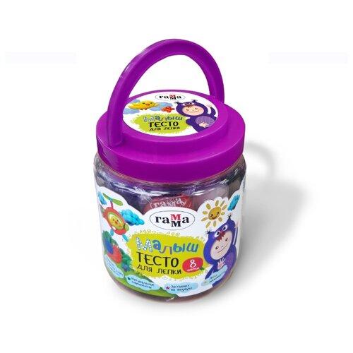 Купить Масса для лепки ГАММА Малыш 8 цветов (211218_04), Пластилин и масса для лепки