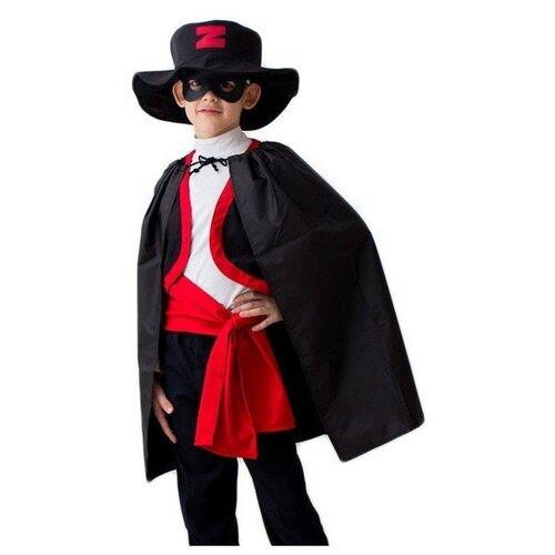 Купить Костюм Bristol Novelty Зорро (ПЯ044), черный/красный, размер 122-134, Карнавальные костюмы