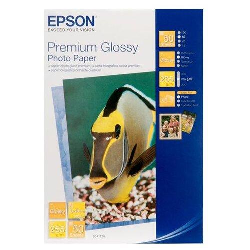 Бумага Epson А6 Premium Glossy Photo Paper 255 г/м² 50 листов белый