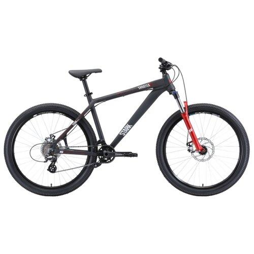 """Горный (MTB) велосипед STARK Shooter 2 (2020) черный/белый/красный 18"""" (требует финальной сборки)"""