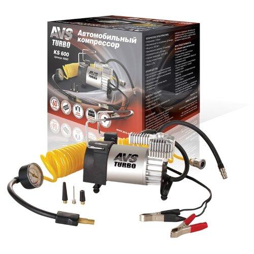Автомобильный компрессор AVS KS600 серебристый