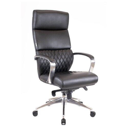 Фото - Компьютерное кресло Everprof President для руководителя, обивка: натуральная кожа, цвет: черный компьютерное кресло everprof drift m для руководителя обивка натуральная кожа цвет коричневый