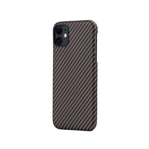 Чехол-накладка Pitaka MagEZ Case (арамид) для Apple iPhone 11 черно-коричневый
