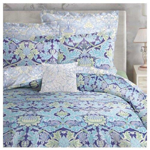 цена Постельное белье 2-спальное Mona Liza Mary, сатин violet blue онлайн в 2017 году