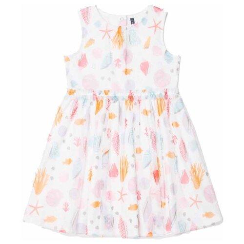 Платье crockid Морская шкатулка размер 128, сахар