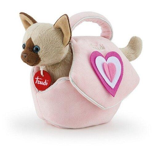 Мягкая игрушка Trudi Сиамский котёнок в сумочке 28 см мягкая игрушка trudi котёнок брэд