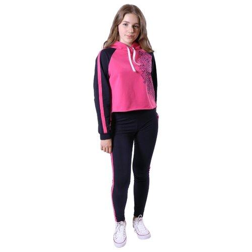 Купить Спортивный костюм Nota Bene размер 140, темно-синий/розовый, Спортивные костюмы