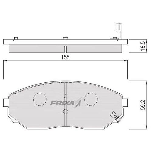 Фото - Дисковые тормозные колодки передние Frixa FPK15 для Kia Sorento (4 шт.) дисковые тормозные колодки передние frixa fpe019 для toyota camry 4 шт