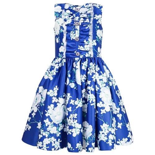 Платье David Charles размер 104, синий/цветочный принт