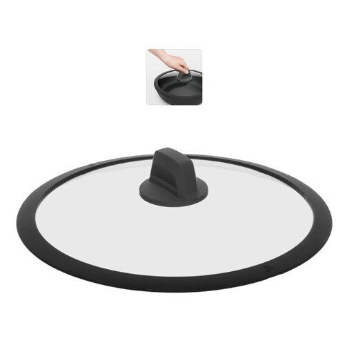 Фото - Стеклянная крышка с силиконовым ободом Nadoba Dára, 28 см крышка стеклянная nadoba greta 28 см