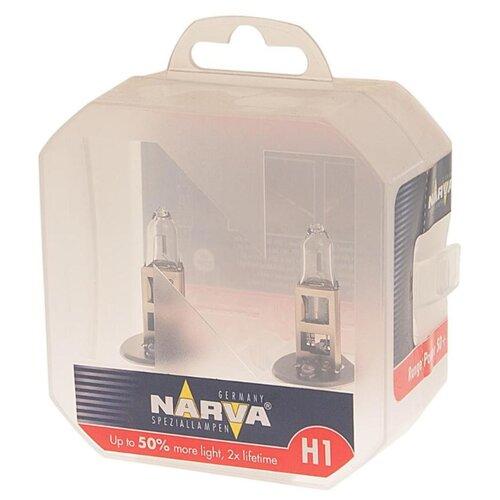 Лампа автомобильная галогенная Narva Range Power +50% 483342100 H1 12V 55W 2 шт. лампа автомобильная галогенная celen hod crystal 50