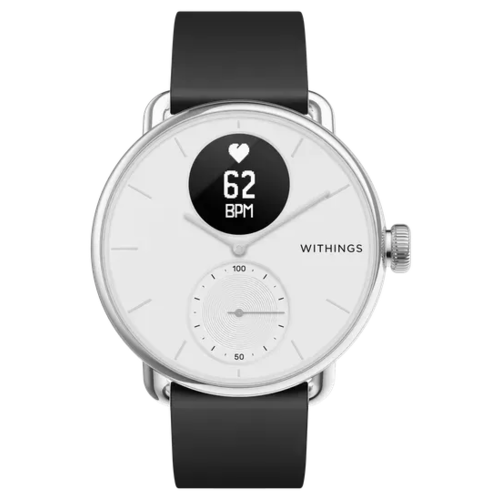 Умные часы Withings ScanWatch 38мм with silicone band, white/silver/black