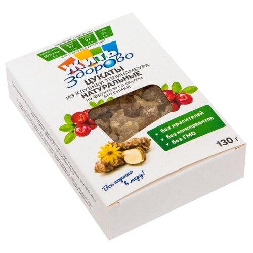 Цукаты из клубней топинамбура Жить Здорово натуральные на фруктозе со вкусом шиповника, 130 г фото