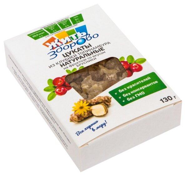 Цукаты из клубней топинамбура Жить Здорово натуральные на фруктозе со вкусом шиповника, 130 г