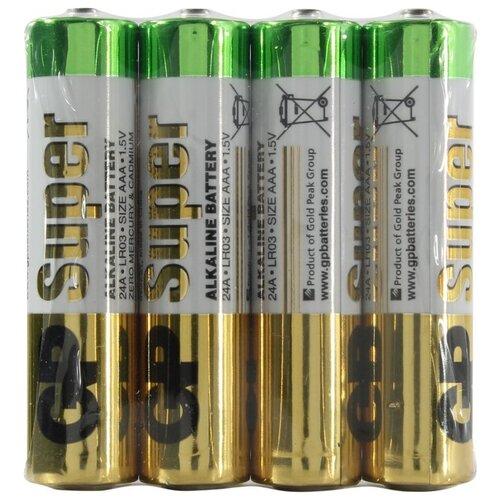 Фото - Батарейка GP Super Alkaline AAA, 4 шт. батарейка gp super alkaline aa 60 шт