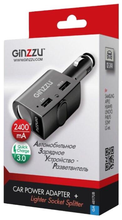 Автомобильная зарядка Ginzzu GA-4817UB