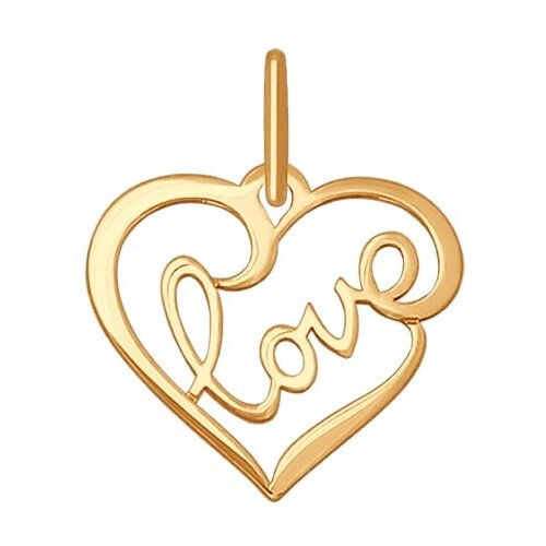 SOKOLOV Подвеска «love» из золота 035196