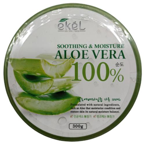 Купить Гель для тела Ekel увлажняющий и успокаивающий с алоэ Soothing & Moisture Aloe Vera 100%, 300 мл