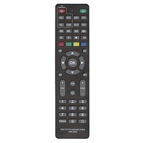 Пульт ДУ Huayu DVB-T2+3-TV для ресиверов dvb-t/t2/c и iptv черный