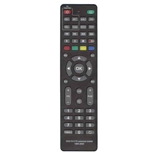 Фото - Пульт ДУ Huayu DVB-T2+3-TV для ресиверов dvb-t/t2/c и iptv, черный avov android tv box dvb s2 satellite receiver with dream iptv live tv free 1000 iptv channels eternally ipremium i7 ulive