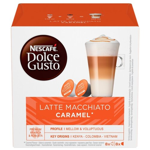 Кофе в капсулах Nescafe Dolce Gusto Latte Macchiato Caramel (16 капс.) фильтр для кофе brand new 2015 dolce gusto tea strainer