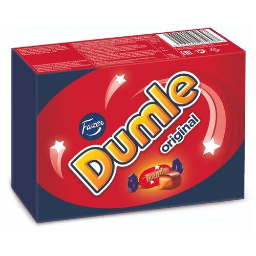 Набор конфет Fazer Dumle Original из мягкого сливочного ириса в молочном шоколаде 150 г красный/синий киви в белом шоколаде 150 г