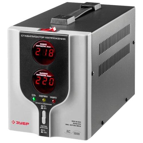 Стабилизатор напряжения однофазный ЗУБР АС 1000 серый стабилизатор напряжения exegate ad 1000
