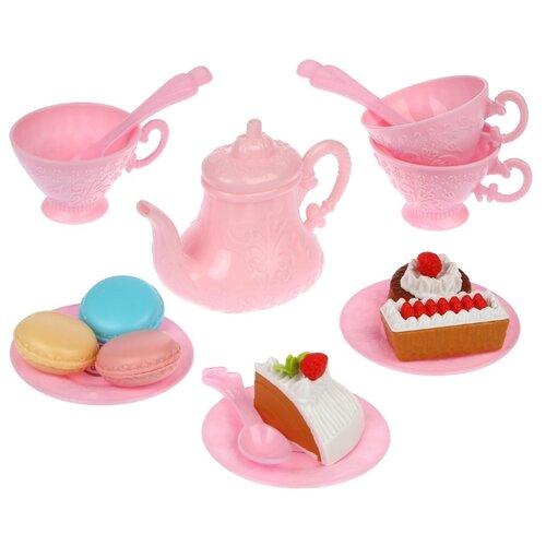 Купить Набор продуктов с посудой Mary Poppins Five O'clock 453204/453205 розовый, Игрушечная еда и посуда