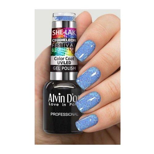 Купить Гель-лак для ногтей Alvin D'or She-Lak Chameleon Festival, 8 мл, оттенок 7110