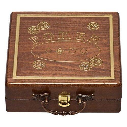 набор для покера us dollar usd500 на 500 фишек c номиналом Кейс для покера Haleyan резной на 100 фишек