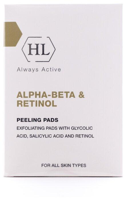 Holy Land салфетки для лица Alpha-beta & Retinol Peeling Pads отшелушивающие