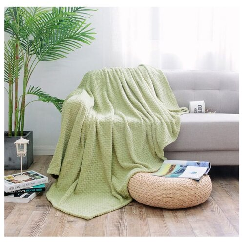 Плед Cleo Royal plush, 150 х 200 см, зеленый плед estro vaniglia 220 х 200 см