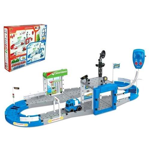 Купить Yako Городские службы M7432-1 белый/голубой/серый//зеленый, Детские парковки и гаражи