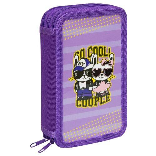 Купить ArtSpace Пенал Cool couple (30П25-3_ПК12_25494) фиолетовый, Пеналы
