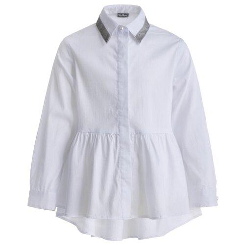Блузка Gulliver размер 110, белый блузка gulliver размер 110 черный
