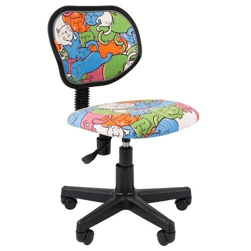 Компьютерное кресло Chairman Kids 106 детское, обивка: текстиль, цвет: котики компьютерное кресло chairman kids 106 детское обивка текстиль цвет автобусы